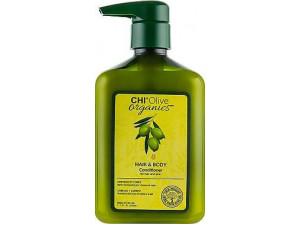 Восстанавливающий,питательный Кондиционер для волос и тела  CHI Olive Organics Hair and Body Conditioner 340ml