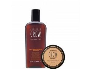 Набор American Crew Pomade 85 г + Daily Moisturizing Shampoo American Crew 250 мл (250мл+85гр)