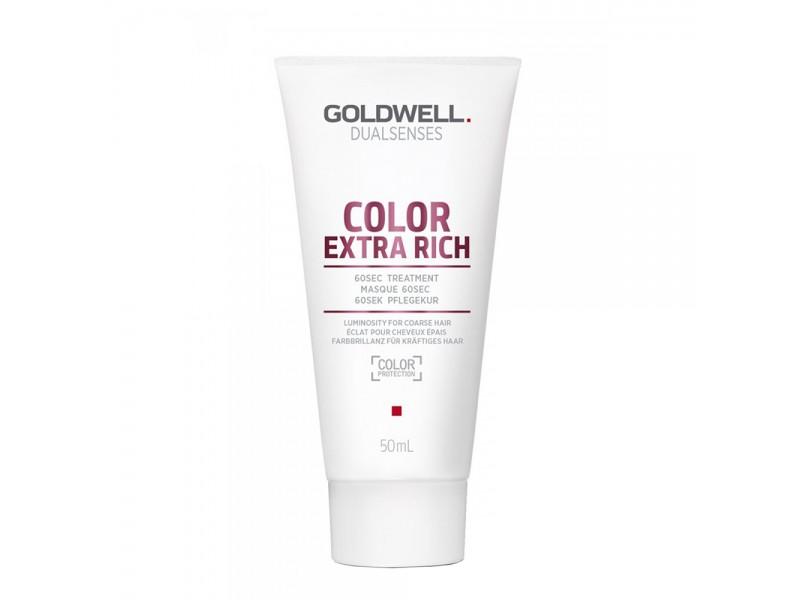 Маска для окрашенных волос- Goldwell DualSenses Color Extra Rich 60sec Treatmen 50 мл
