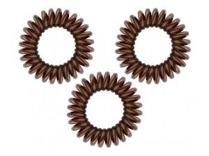 Резинка-браслет для волос коричневая -  Original PRETZEL BROWN 3 шт