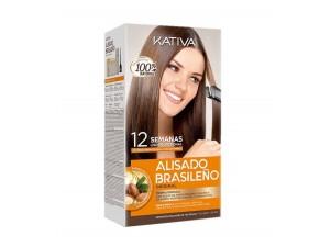 Kativa Набор для кератинового выпрямления и восстановления волос с маслом Арганы KERATINA
