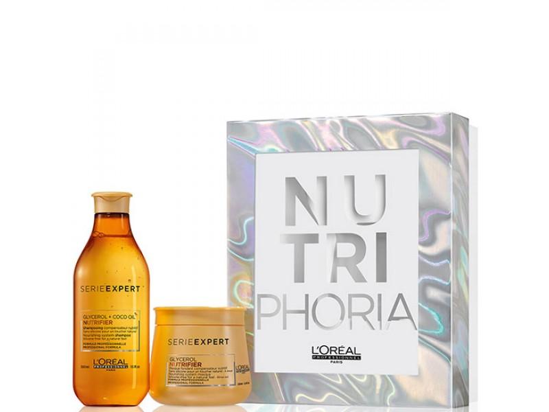 Набор  для сухих и ломких волос (шампунь и маска) - L'Oreal Professionnel Nutrifier