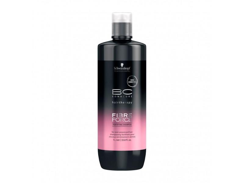 Безсульфатный укрепляющий шампунь Schwarzkopf Professional BC Bonacure Fibre Force Fortifying Shampoo 1000 мл