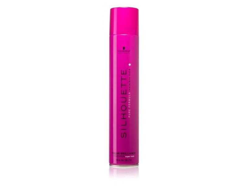 Лак яркость цвета суперсильной фиксации Schwarzkopf  Silhouette Color Brilliance Hairspray Super Hold 500 ml